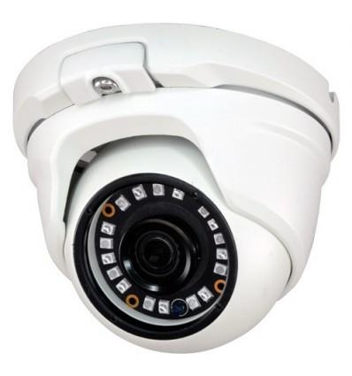 Cámara Domo 4 en 1 (HDCVI/HDTVI/AHD/CVBS)  1080p Full HD exterior, optica fija 3.6mm, gran angular y visión nocturna 20m