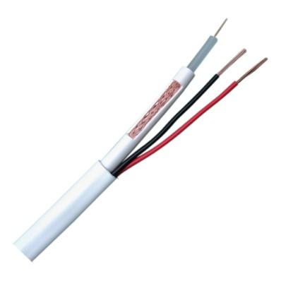 Cable combinado RG59 + alimentación rollo de 100 metros