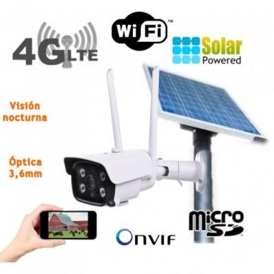 camara IP solar 3G 4G exterior placa solar bateria tarjeta SD