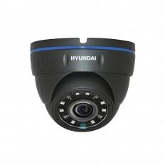 Cámara Domo 4 en 1 (HDCVI/HDTVI/AHD/CVBS) 1080p ext/int, optica fija y visión nocturna 20m, negra