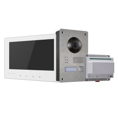 KIT DE VIDEOPORTERO Hikvision TECNOLOGÍA IP, 9 canales a 2 HILOS, alarma, control de accesos e intercomunicador video