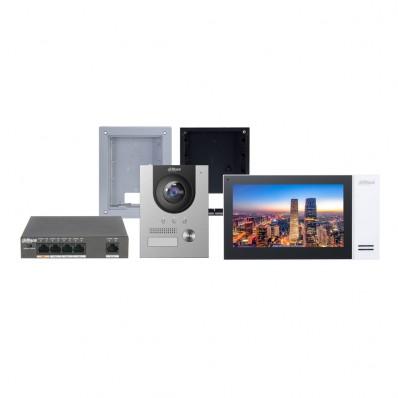 Kit Videoportero Dahua Tecnologia IP, 2 hilos, PoE, con alarma