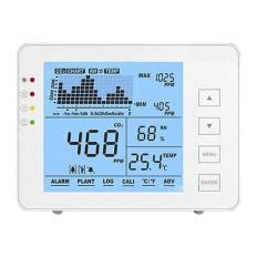 Medidor de CO2, temperatura y humedad Con alarma visual y audible