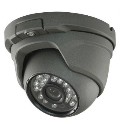 Cámara Domo 4 en 1 (HDCVI/HDTVI/AHD/CVBS)  720p HD exterior, optica fija 3.6mm y visión nocturna 20m